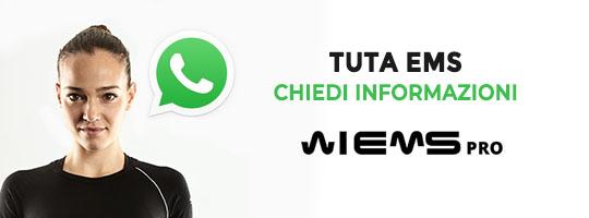 richiedi informazioni sulle nostre tute elettrostimolatori tramite WhatsApp