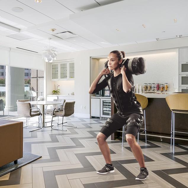 Sport in casa - Lo sport in casa. La tuta EMS WiemsPro è una soluzione innovativa che permette, a sportivi e non, di praticare sport con l'elettrostimolazione in pochi metri quadri anche durante l'emergenza COVID 19.